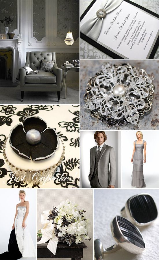 Black White And Silver Wedding 11 7 2017 3 Pinterest Colors