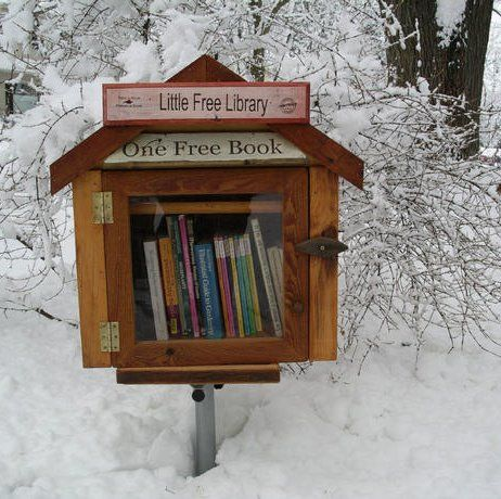 How ingenious! Little Free Library is based on the pay it forward principle. Take a book, leave a book!