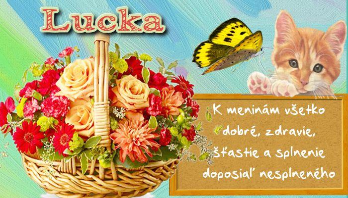 Lucka K meninám všetko dobré, zdravie, šťastie a splnenie doposiaľ nesplneného