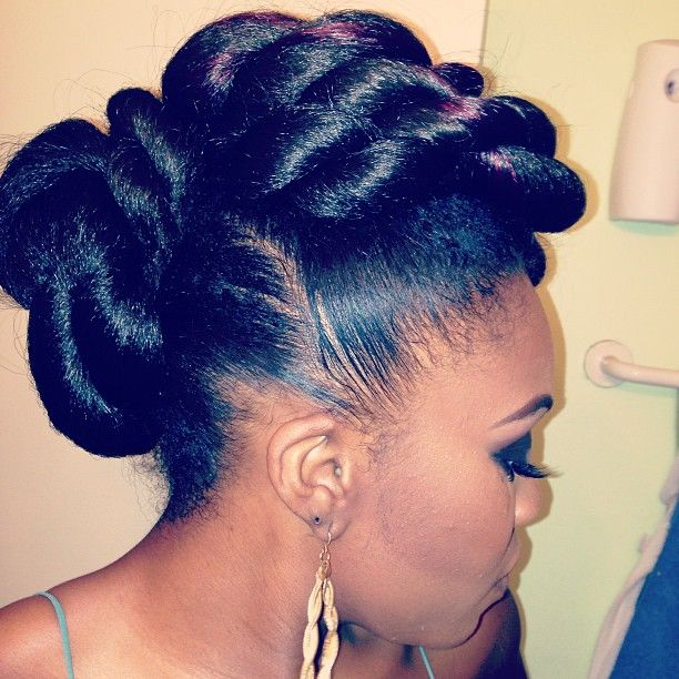 Cornrow Bun   Step By Step: How to do a Double Rope Bun Updo on Natural Hair