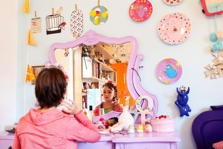 the boo and the boy: funky and eclectic family home - girls' room