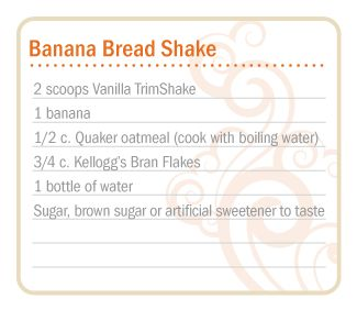 doterra slim and sassy trim shake banana bread trimshake