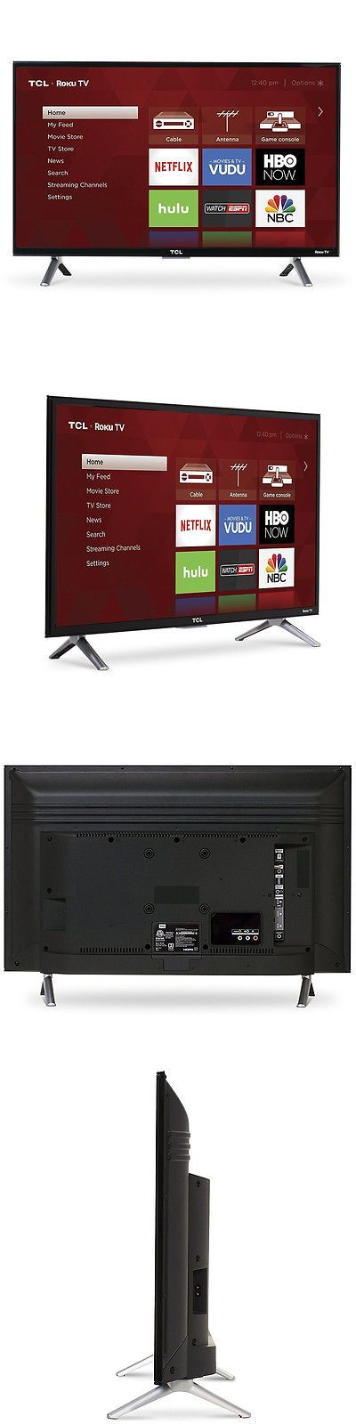Televisions: Tcl 28-Inch Roku Smart Led Hdtv With 720P Resolution And Dual-Band Wifi In Black -> BUY IT NOW ONLY: $168.36 on eBay!