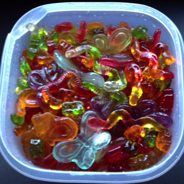 margarita gummy candies!!! Soak the gummy candies overnight in tequila (the longer you soak em, the more potent they will be) and then soak them the next night in lemonade