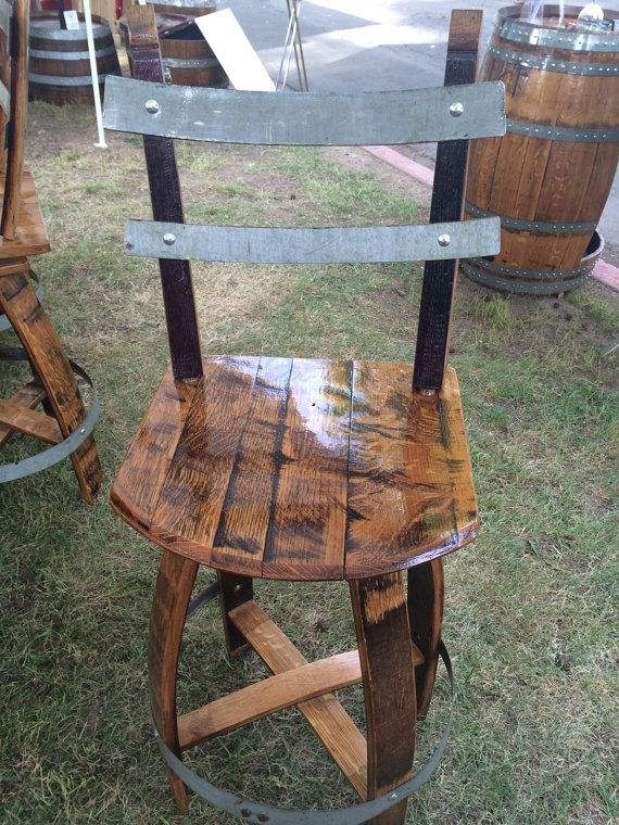 "Wine barrel Swivel Chair (29"")"