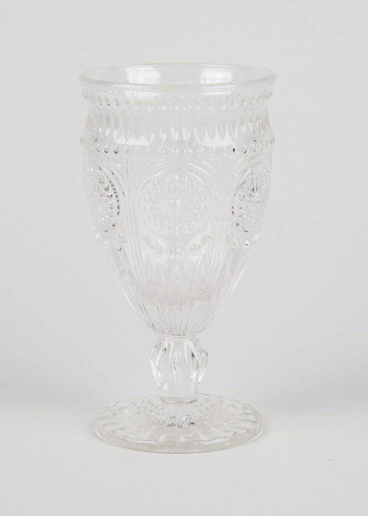 Embossed Wine Glass (17cm)