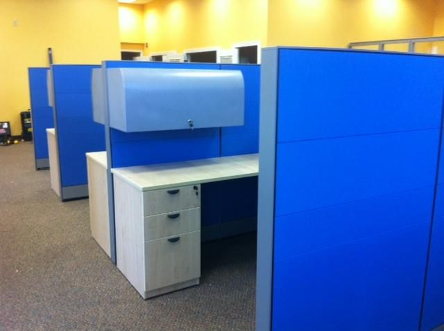 Shire Cubicles 60 H Tile System Low Panel W Overhead Laminate Maple