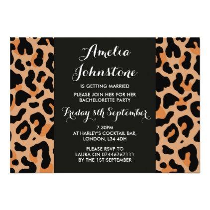 #bachelorette #party #invitations - #Leopard Print Bridal Shower Invitation