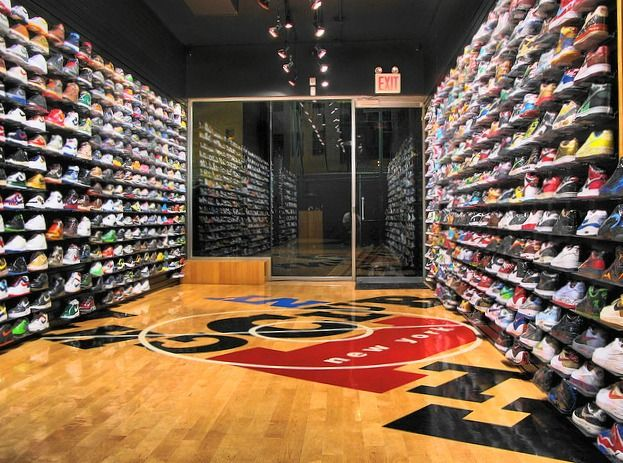 Flight Club NYC - It's shoe heaven. They have all the vintage pairs of Jordan's, Lebron's, Kobe's, Air Force 1's, Yeezy's and much much more.