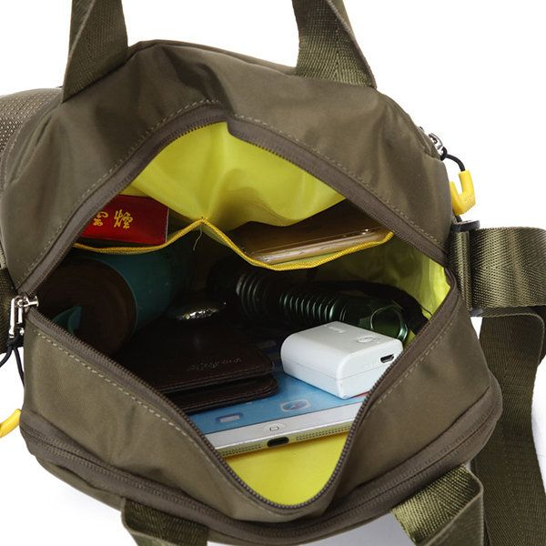 Men Nylon Anti-Scratch Handbag Casual Waterproof Sport Shoulder Bag - US$27.99