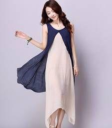 Buy blue georgette plain kurti kurtas-and-kurti online