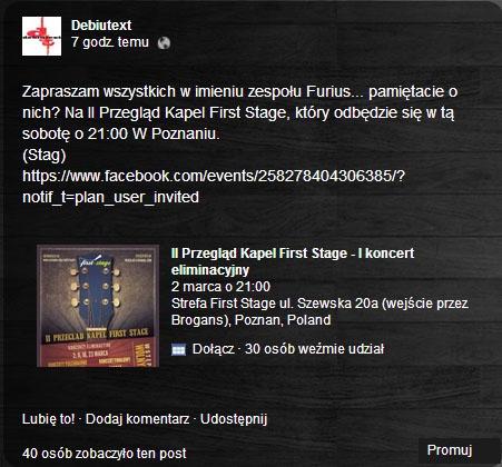A Stag na fp promuje Furiusa.