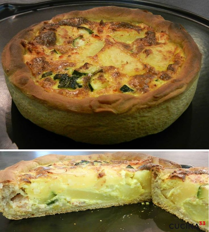 Torta al salmone e patate realizzata con la pasta per la pizza by Micol Pisa. #salmone #patate #pizza #tortasalata