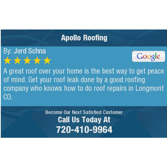 A great roof over your home is the best way to get peace of mind.  Get your roof leak done...
