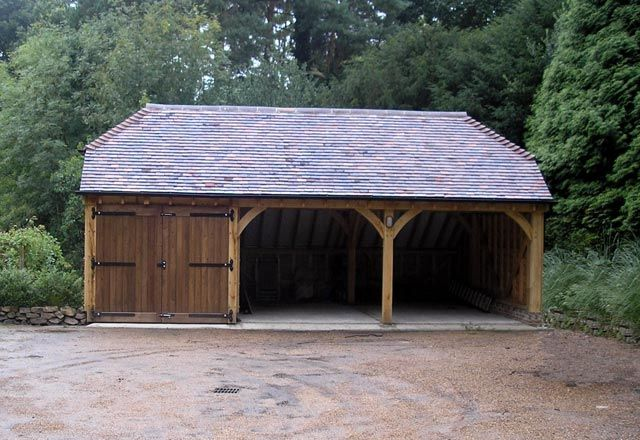 3 bay oak garage