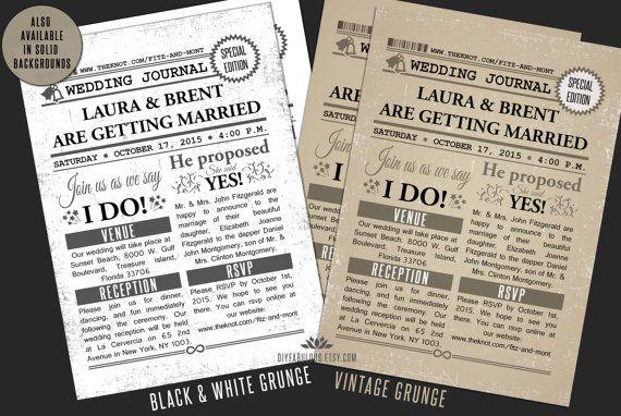 Newspaper Wedding Invitations: Best 25+ Retro Wedding Invitations Ideas Only On Pinterest