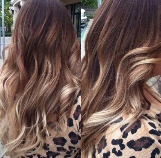 Beautiful fall hair color by me Raquel Silva! Brown! Carmel! Blonde! Balayge highlights! Instagram raquelsilva_hairstylist