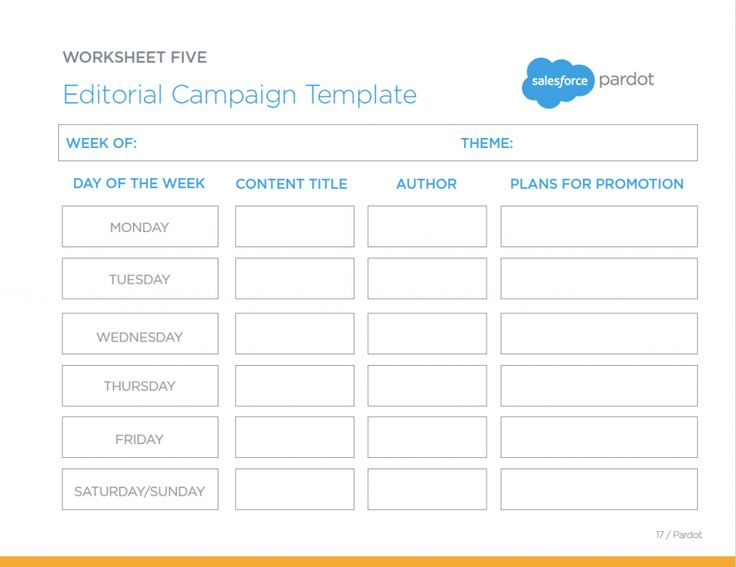 The Editorial Campaign Template — A great worksheet for keeping track of your upcoming marketing content