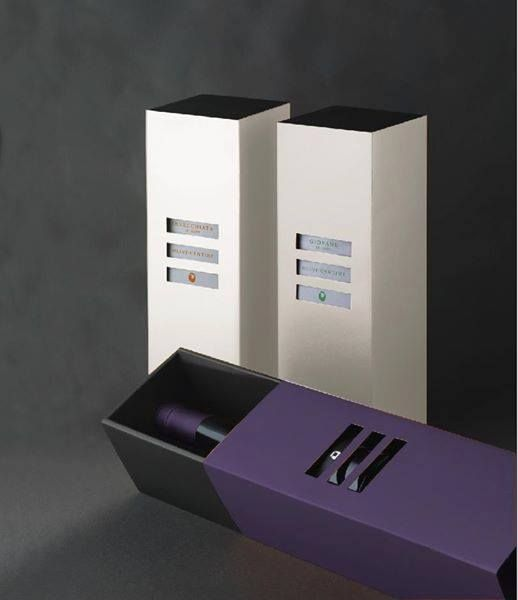Special boxes for special wines, you can find them inside the Olivi winery, Tuscany.