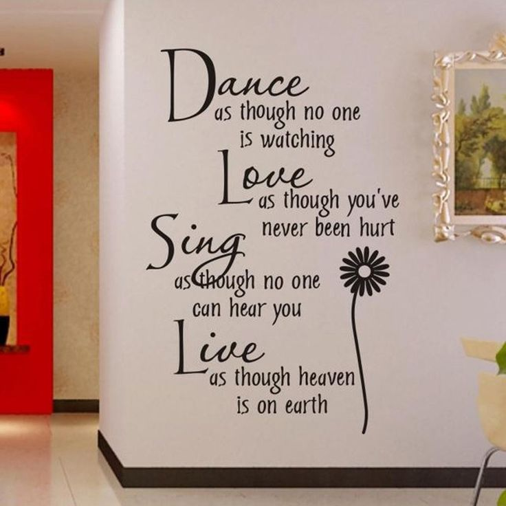 Best WallGlass Sticker Quotes Images On Pinterest Wall - Custom vinyl wall decals dance
