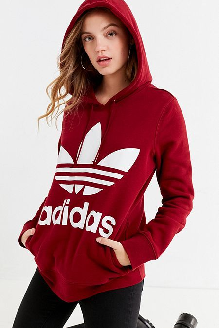 adidas Originals Classic Trefoil Hoodie Sweatshirt Adidas Classic Shoes fec2d9f5d4