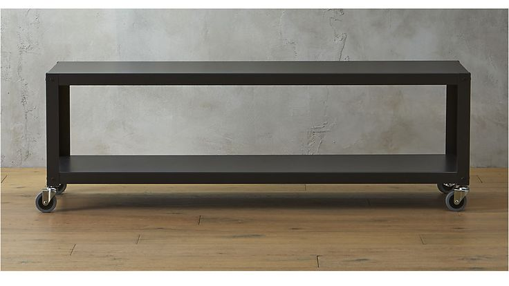 """go-cart carbon  rolling tv stand/coffee table $169Overall Dimensions Width: 60"""" Depth: 18"""" Height: 20"""" Interior Height Height: 12.5"""""""