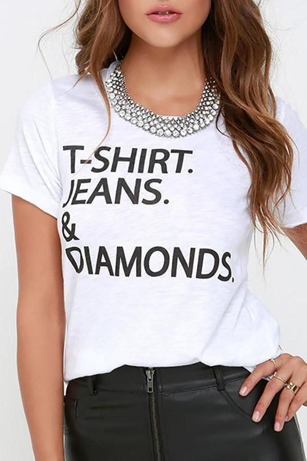 Chaser Jeans & Diamonds Tee