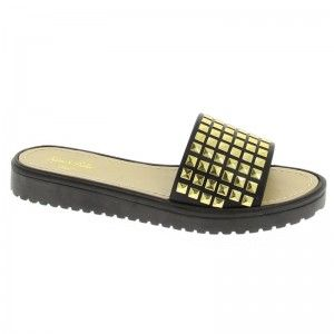 Womens Sam & Billie Studded Cleated Mule Studded One Bar Cleated Mule