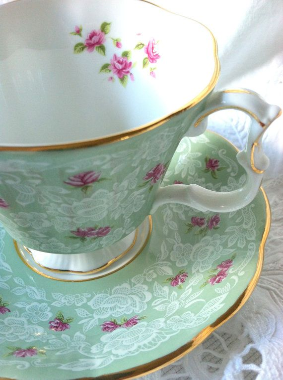 Vintage Royal Albert Tea Cup and Saucer by MariasFarmhouse on Etsy, $65.00