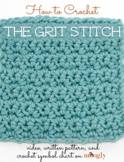 Aprenda a fazer crochê # Grit o ponto!  Vídeo tutorial, padrão de escrita e símbolo gráfico de crochê Mooglyblog.com