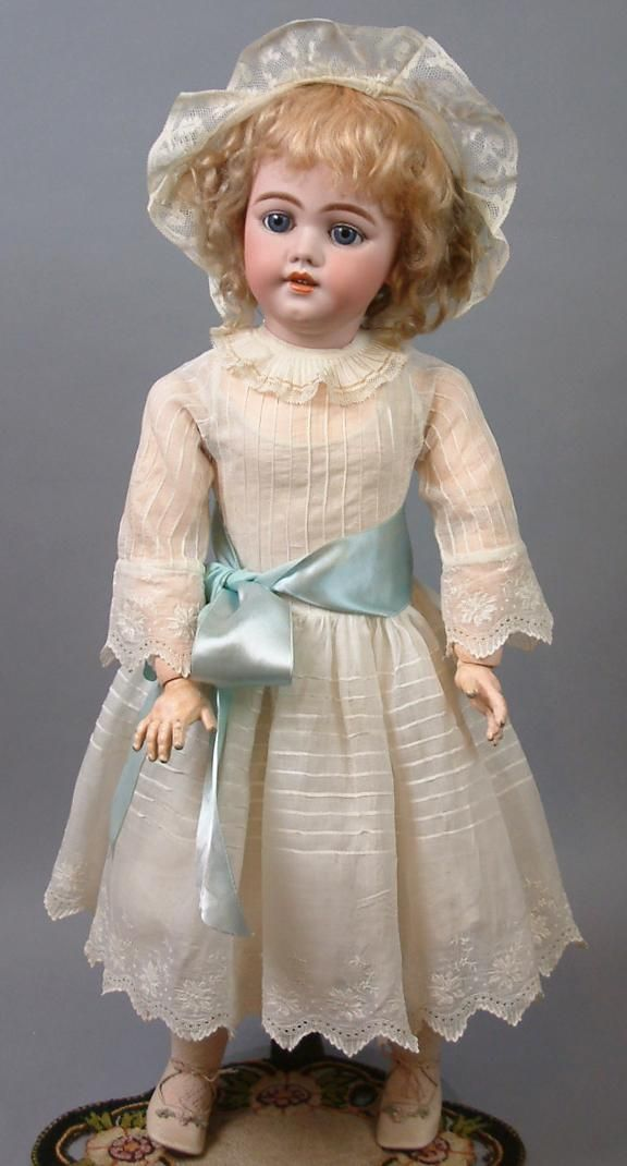 "26"" The Most Beautiful SIMON & HALBIG 1009 Early Bisque Head Child Doll is all Antique circa 1900"