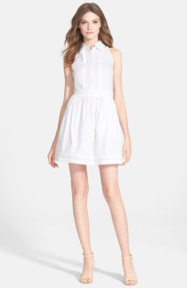 Diane von Furstenberg 'Lara' Sleeveless Cotton Blend Shirtdress available at #Nordstrom