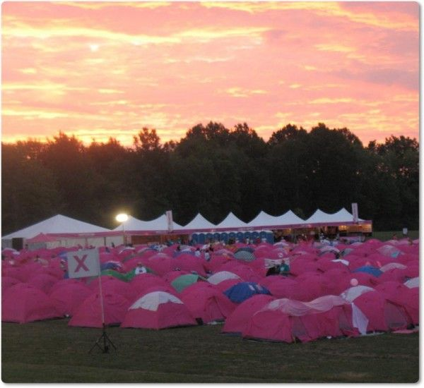 Tent City at the Susan G. Komen 3 Day in Cleveland. Loved the place, loved the experience (twice).
