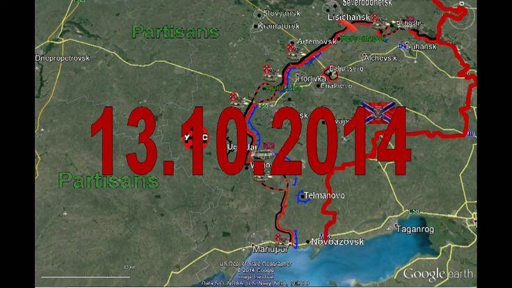 War in Ukraine 13/10/2014 Map Fighting Donetsk Lugansk Mariupol Current Situation