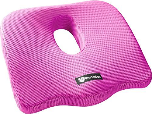 PharMeDoc Coccyx Seat Cushion -Sciatica Pillow for Back P...