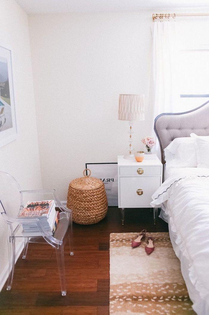 Merveilleux Decoration Chambre à Coucher Adulte Moderne Déco Simple Idée Parfait En  Blanc Chambre à Coucher Féminine