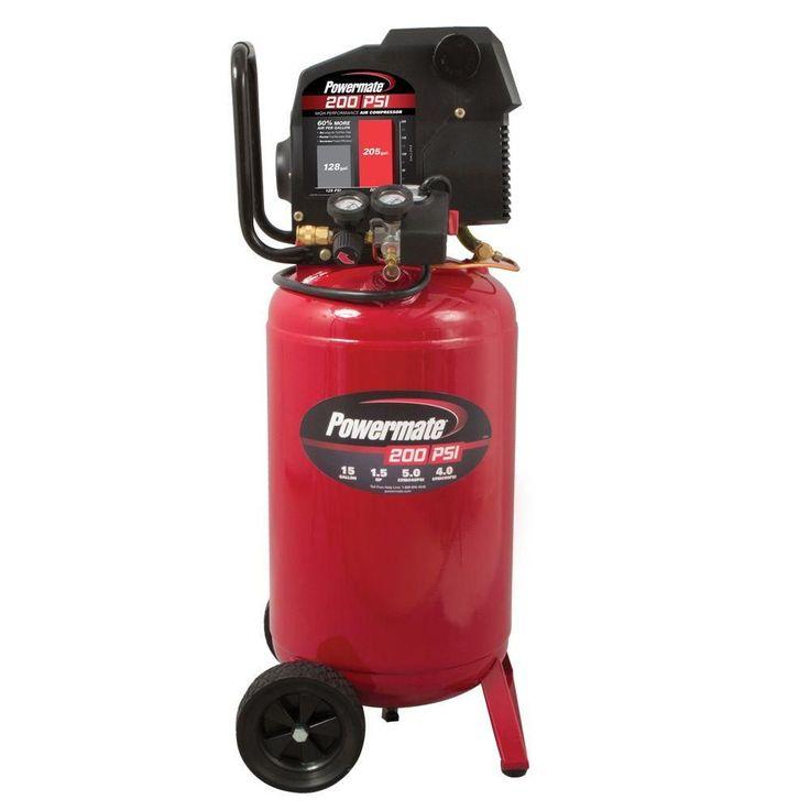 15 Gal. 200 psi Portable Electric Air Compressor