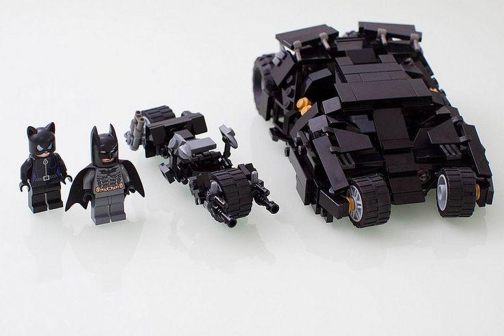 Batman & Catwoman with Tumbler & Batpod