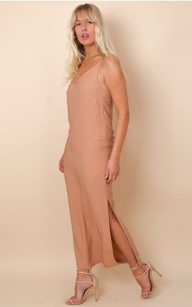 Camel Cami Maxi Dress