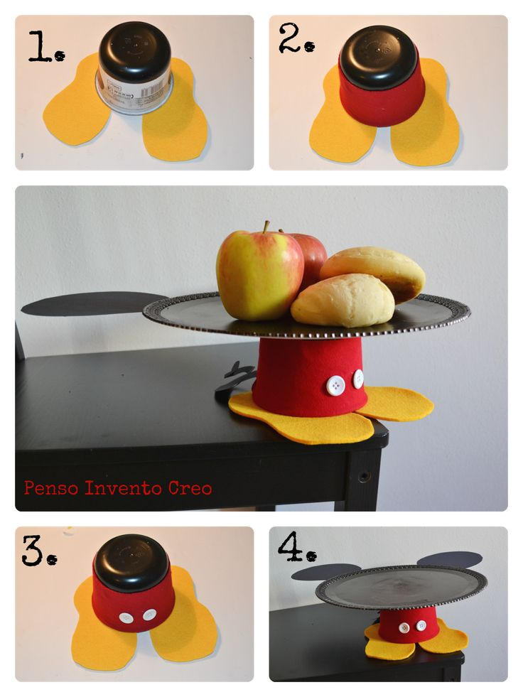 Alzatina faidate allestimento party mickey mouse http://pensoinvento.blogspot.it/2014/04/festa-compleanno-mickey-mouse-topolino.html