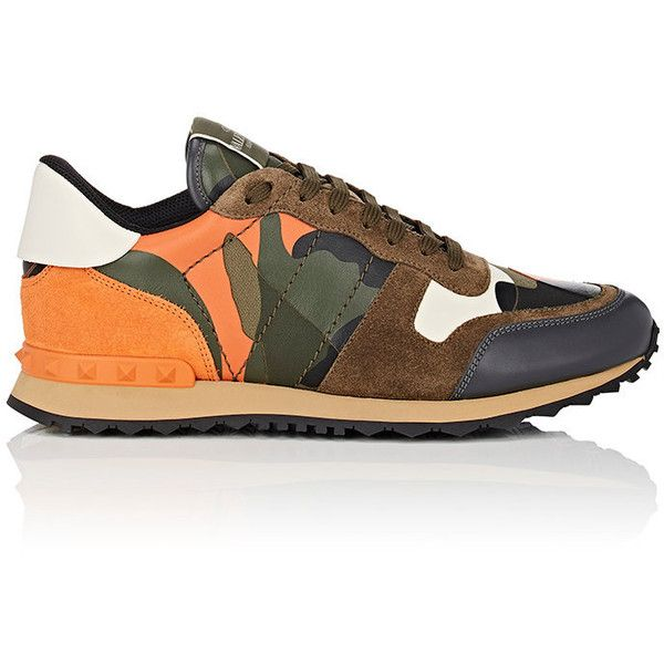 Valentino Men's Camouflage Rockrunner Sneakers ($795) ❤ liked on Polyvore featuring men's fashion, men's shoes, men's sneakers, valentino mens sneakers, mens shoes, mens sneakers, valentino mens shoes and mens camo shoes