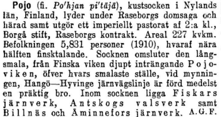 Pojo i Nordisk familjebok 1910