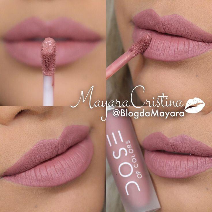 Batom Stone da marca Dose Of Colors. Rosa. Lipstick. Makeup. Maquiagem. Batom líquido Matte. Por @BlogdaMayara