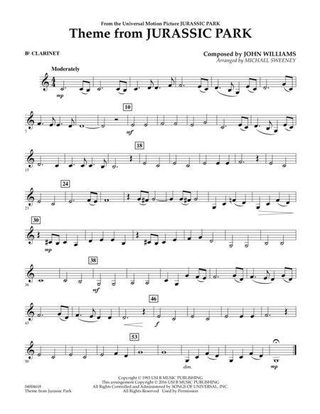 Theme from Jurassic Park - Bb Clarinet in 2020 | Clarinet ...