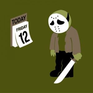 Friday the 12th t shirt. Funny, horror, vintage, retro, Friday the 13th, Jason Voorhees.