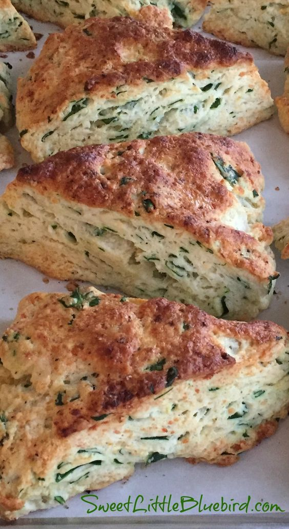 SPINACH FETA SCONES - Rich, tender, flaky goodness. If you've been searching for a savory scone recipe, look no further, this is the one you should try! | SweetLittleBluebird.com
