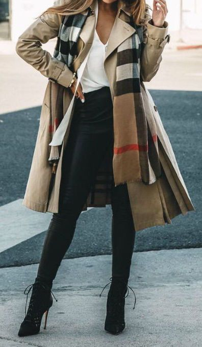 #winter #fashion / pattern print scarf + camel coat