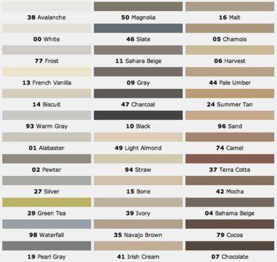 """mapei grout colors design dump: tile installation """"notes"""""""