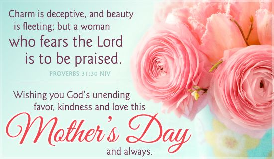 Mother's Day, Proverbs 31 NIV - Free Christian Ecards, Greeting Cards