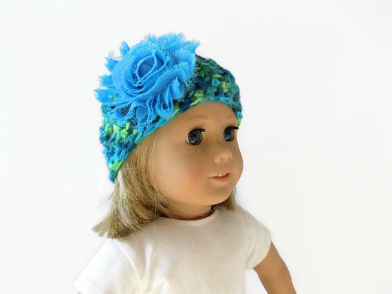 Knit Doll Hat  18 Inch Doll Clothes  Crochet by PreciousBowtique
